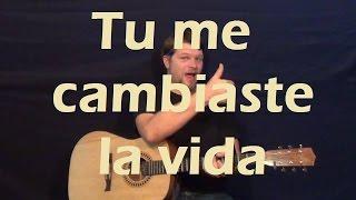 Me cambiaste la vida (Rio Roma) Easy Guitar Lesson Strum Chords How to Play Tutorial