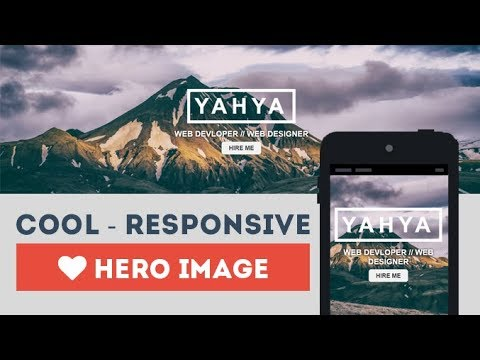 Cool And Responsive Hero Image Using Only HTML & CSS
