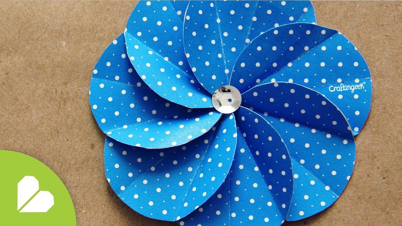 Flor Espiral · Scrapbook Flower - YouTube