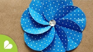 Repeat youtube video Flor Espiral · Scrapbook Flower
