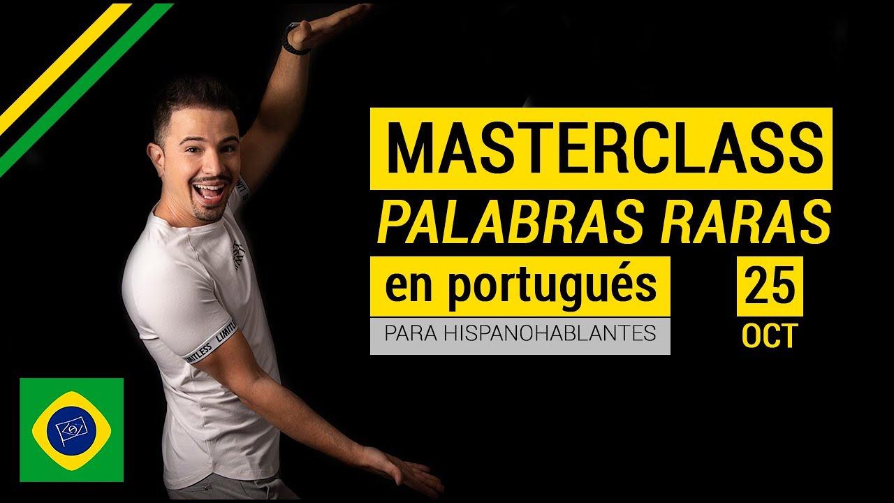 Palabras raras en Portugués para personas que hablan español