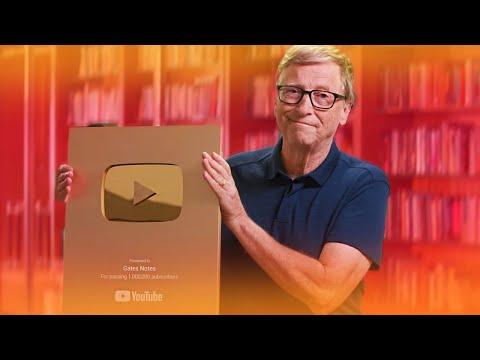 Билл Гейтс получил Золотую Кнопку ЮТУБ / Блогер - Миллиардер