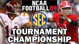 SEC Tournament Championship (NCAA Football 09) Georgia vs Alabama