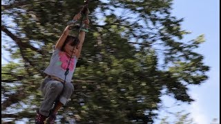 FIRST ZIPLINE RIDE EVER! | EVEE WAS SO SCARED!