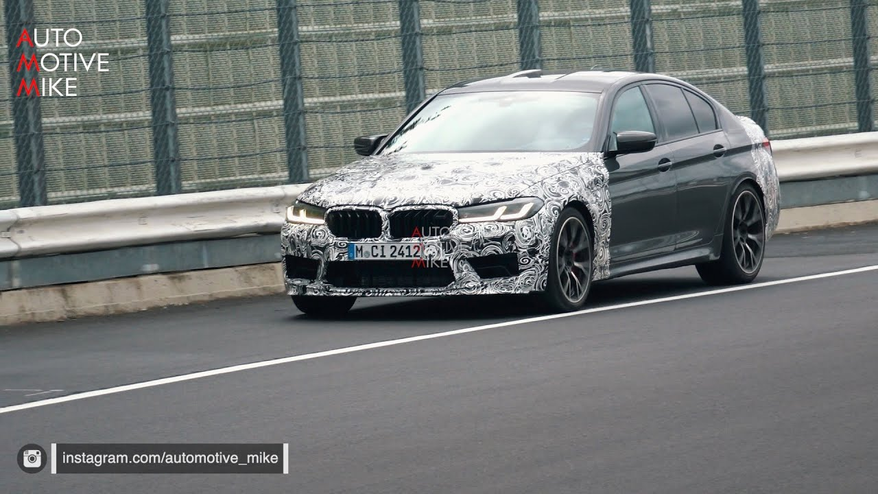 2021 Bmw M5 Cs Spied Testing At The Nürburgring Youtube