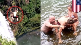 Idiot needed rescuing after 200-feet jump from Hawaii waterfall - TomoNews