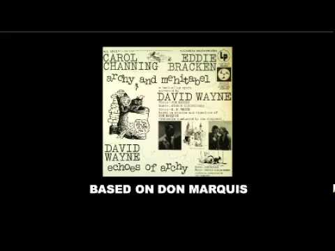 Don Marquis archy and mehitabel - echoes of archy Carol Channing LP