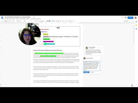Fact and Opinion How To Annotate Article in Google Docs-RDG100