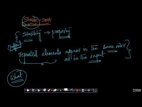 Stable sort | Insertion sort | Data Structure & Algorithms | Gate Appliedcourse