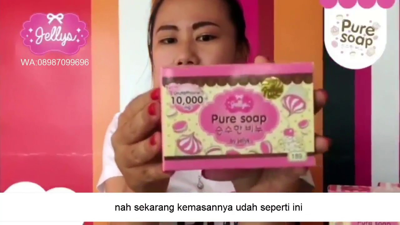 Review Kemasan Baru Jellys Pure Soap Original Bpom Wa 08987099696 Body Jelly Sabun
