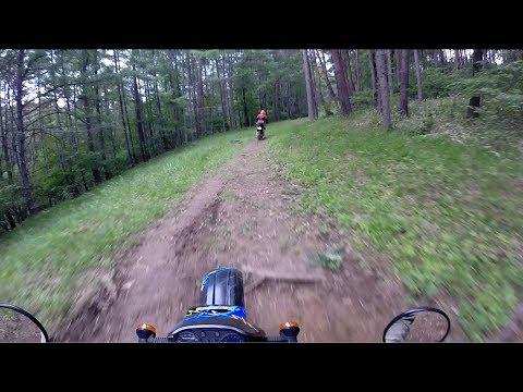 KTM 690 ENDURO R vs Kawasaki KLX650 Hill climb