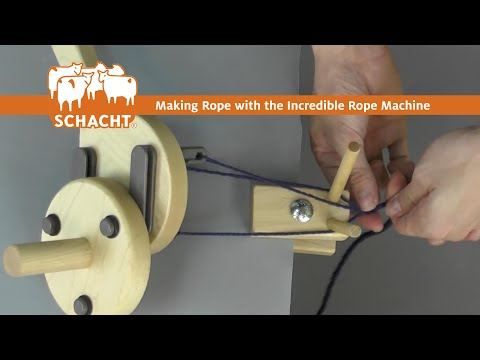 How To Make Rope Using The Incredible Rope Machine From Schacht Spindle Company