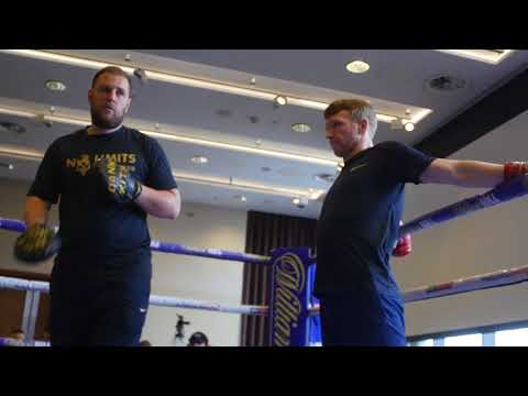 TOM FARRELL OPEN WORKOUT FOR KHAN VS LO GRECO UNDERCARD