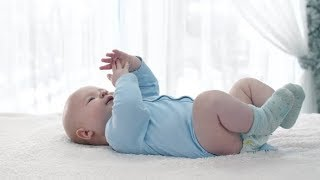 Little Baby Lying on a Back | Stock Footage - Videohive