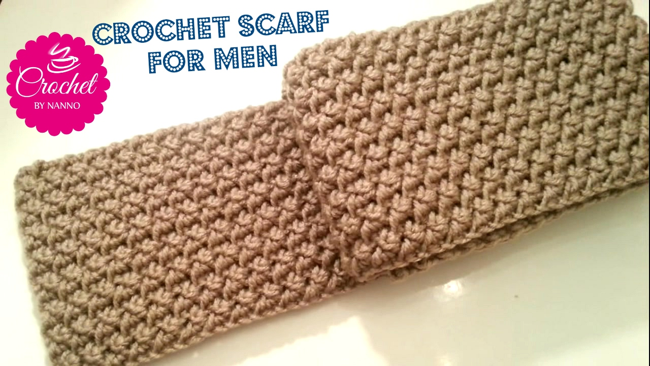 How To Crochet A Scarf For Men 1 Exclusivestitch The Crochet