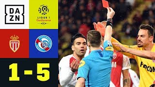 Rote Karte für Naldo bei Debakel: AS Monaco - RC Strasbourg 1:5 | Ligue 1 | DAZN Highlights