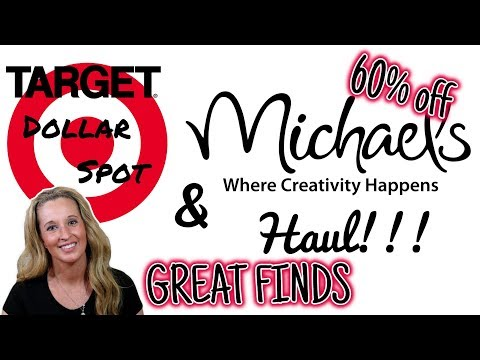 TARGET'S DOLLAR SPOT and  MICHAEL'S HAUL | GREAT FINDS