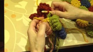 コイル編みの円座つなぎ方動画