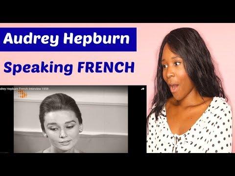 Reacting To Audrey Hepburn Speaking French
