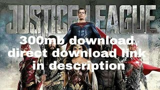 How to download justice league in hindi direct download link only 700 mb in description