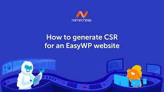 How to generate CSR for an EasyWP website