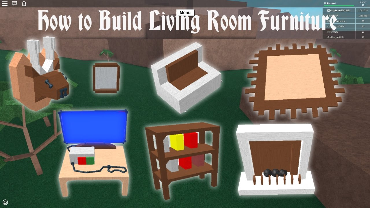 Build Living Room Furniture Remodel Lumber Tycoon 2 How To Youtube