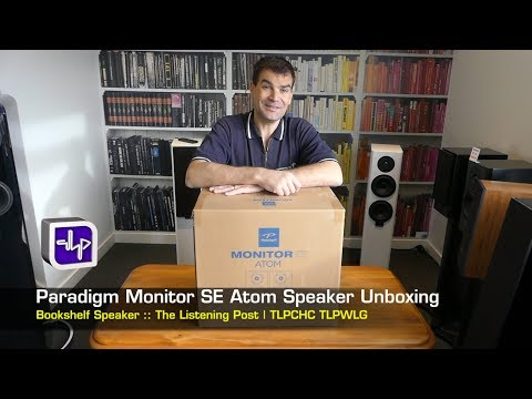 Paradigm Monitor SE Atom Book Shelf Speakers Unboxing | The