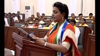 Actor Roja Takes Oath As MLA Of AP