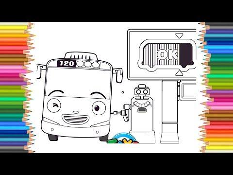 Mewarnai Gambar Tayo Hey Si Bus Kecil Lucu Anak Youtube