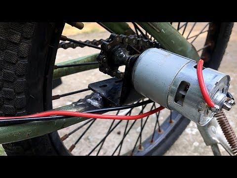 Chế Xe đạp điện Bằng Motor 775 | DIY Electric Bike Using 775 Motor
