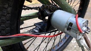 Chế xe đạp điện bằng Motor 775   DIY Electric bike using 775 motor