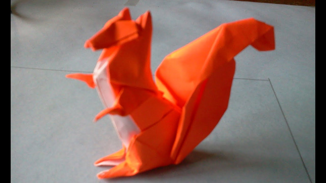 How to make origami squirrel michael g lafosse youtube jeuxipadfo Choice Image