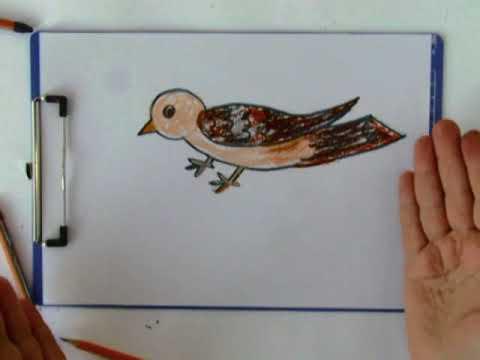 Tutorial De Desen. Cum Să Desenezi O Pasăre./How To Draw A Bird Very Easy.