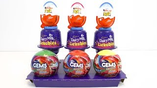 NEW Kinder Joy vs Dairy Milk Lickables vs  Gems Surprise ball thumbnail