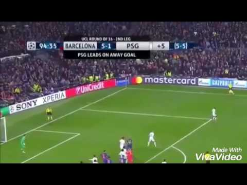 Gol de Sergi Roberto   Barcelona 6 - 1 PSG   Fernando Solabarrieta (Relato Emocionante)