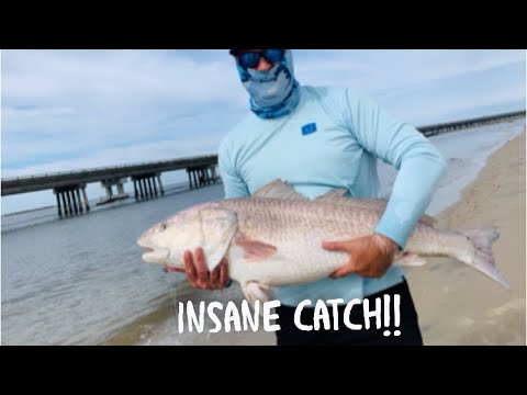 Fishing The Outer Banks! I Help A Stranger Catch Fish Of His Life!