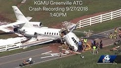 Plane Crash Tower Audio from KGMU Downtown Greenville 9-27-18