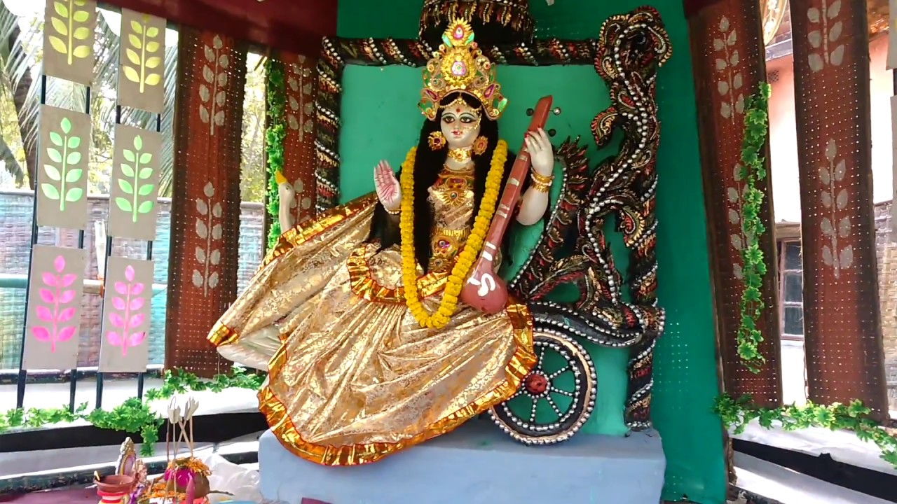 ma saraswati pujabasant panchami famous puja west bengal india youtube