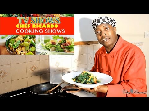 Fry Up Spinach Vegetarian Dish -( Back In the Days TV Show)