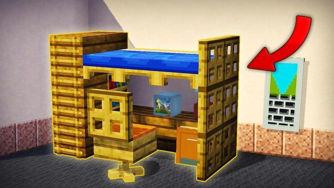 Minecraft como hacer la mejor litera con set up gamer - El mejor ambientador para casa ...