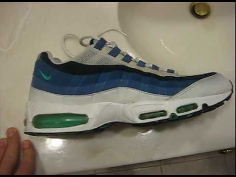 best sneakers 7fc05 66ef7 Nike Air Max 95 White/New Green Blue Slate 1998 Retro Review