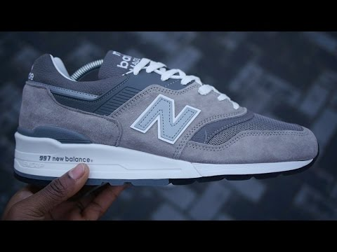 98b3c4123a522 New Balance 997 Review & On Feet (M997GY2) - YouTube