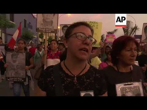 Protest against Fujimori's pardon and Peru's government