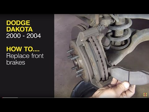How to replace the front brake pads on a Dodge Dakota (2000 – 2004) / Dodge Durango (20)0 – 2003)