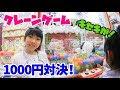 クレーンゲーム1000円対決★二人に奇跡起きる?!★にゃーにゃちゃんねるnya-nya channel