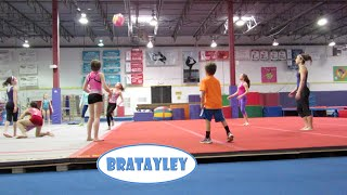 Gymnasts Play Volleyball! (WK 226.6) | Bratayley