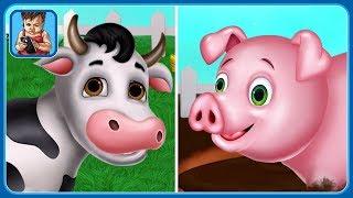 Домашние животные на ферме * Мультик игра про животных для детей