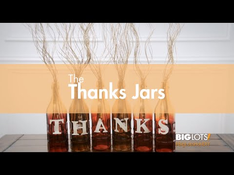 Big Lots HoliDIY - Thanks Jars