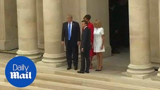The Trumps meets with French leader Macron and his wife - Daily Mail