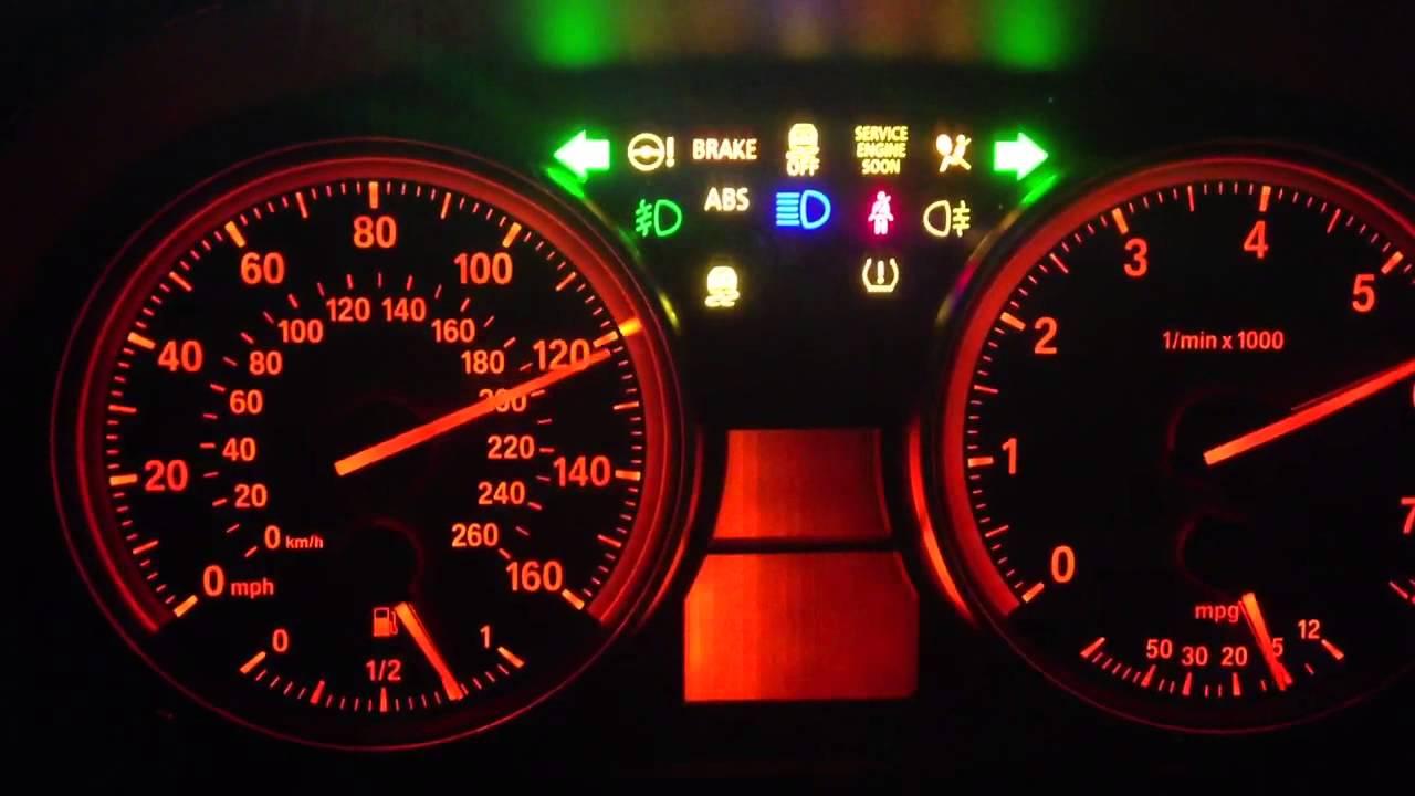 Bmw dashboard warning lights e90 lightneasy bmw e90 dashboard test you buycottarizona Gallery